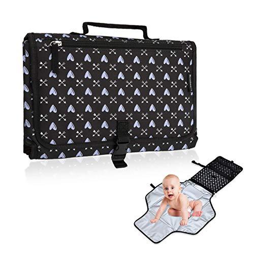 Tragbare Wickelunterlage für Babys/Abwischbarer Matte, Wasserdichte, Tragbare und Faltbare Windelmatte für Baby auf Reise