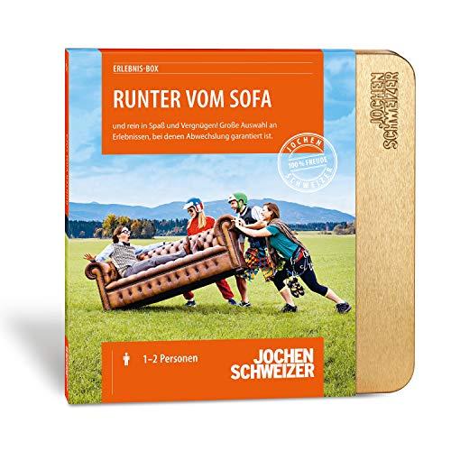 Jochen Schweizer Erlebnis-Box 'Runter vom Sofa', mehr als 430 Erlebnisse für 1-3 Personen, Gutschein mit Geschenk-Box