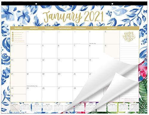 bloom daily planners 2021 Calendar Year DeskWall Monthly Calendar Pad Large 21 x 16 Hanging or Desktop Blotter January 2021 - December 2021 - - Seasonal Designs