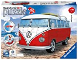 Ravensburger- VW Bus T1 Campervan Volkswagen Puzzle, Color Blanco/Rojo (Ravesnburger...