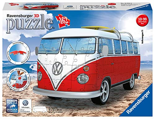 Ravensburger VW Bus T1 Campervan Puzzle Color Blanco/Rojo Ravesnburger 12516