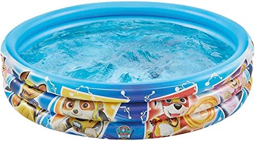 Smart Planet Planschbecken Paw Patrol aufblasbar - 100 x 23 cm - 3-Ring-Pool Fellfreunde - Kinderpool - Babypool - Schwimmbecken - Aufstellpool
