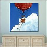 YuanMinglu Ölgemälde Blauer Himmel Ballon Tier Wandbild Leinwand Kunst Gemälde für Wohnzimmer...