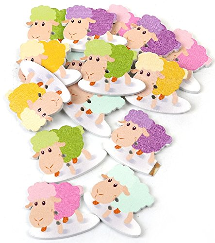 SiAura Material ® - 50 botones de madera de oveja, 27 x 33 mm, 2 agujeros