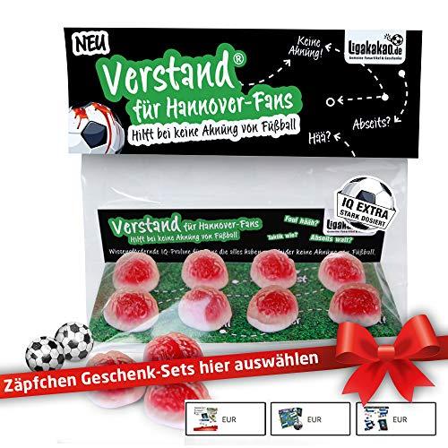 Hannover 96 Geschenk Set ist jetzt VERSTAND für Hannover-Fans | Fruchtgummi-Pralinen, hochdosiert | Für Schalke, Bayern & Fußball-Fans, denen der Verstand von H 96-Fans am Herzen liegt