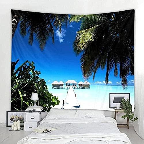 Ocean Beach Tapiz Hippie Arte de la pared Tapesties Tropic Beach Estética Playa Manta para colgar en la pared para el dormitorio Decoración del hogar Decoración de la habitación 200x230cm