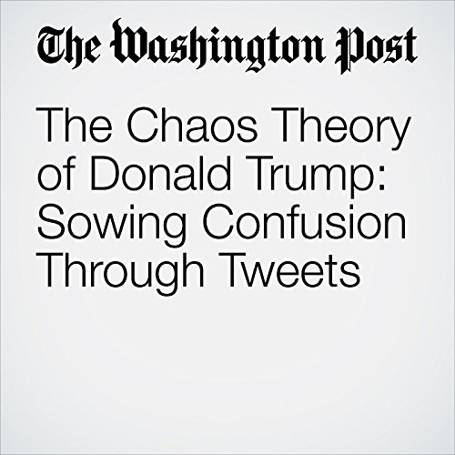 The Chaos Theory of Donald Trump: Sowing Confusion Through Tweets audiobook cover art