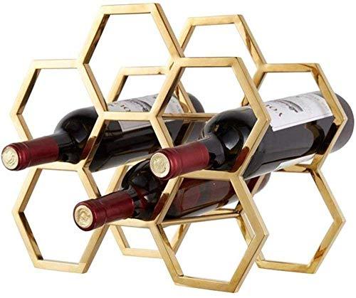 YZ-YUAN Estante de Vidrio de Vino Soporte de Vino de Metal Estante de Vino apilable Soporte de Botella de Vino Estante de Almacenamiento de Vino - Decoración de Estante de Vino, manu