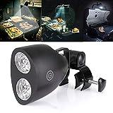 Exnemel Luz LED para Parrilla de Barbacoa, Luz de Parrilla Giratoria de 360 Grados con Montaje de Tornillo para Acampar, Andar en Bicicleta, Leer, Pescar, Cocinar al Aire Libre
