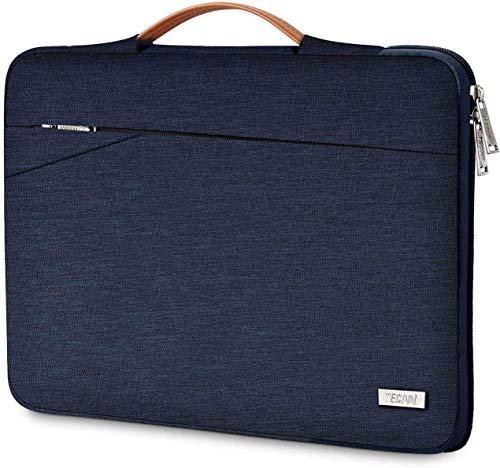 TECOOL Laptop Tasche Hülle Notebooktasche Schutzhülle mit Griff für 2010-2017 MacBook Air 13,3 Zoll, 2012-2015 MacBook Pro 13 Retina, 13.5 Surface Laptop, 14 Zoll Ultrabook, Blau