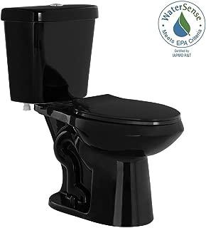 2-piece High-Efficiency Dual Flush Elongated Toilet in Black