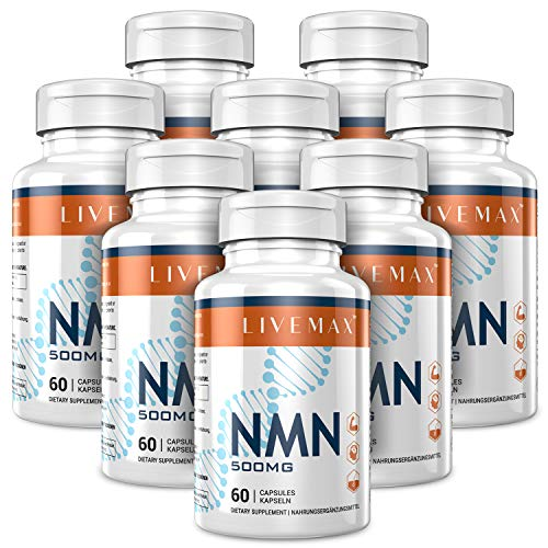 NMN Supplement-Enhance Concentration, Boost Energy, Improve Memory & Clarity for Men & Women - Your Best NAD Booster (livemax-8 Pack)