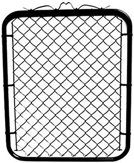 MTB Black Coated Chain Link Fence Gate 48-inch Overall Height by 32-inch Frame Width (Fit a 36-inch Opening), 1 Pack Walk Through Farm Gate