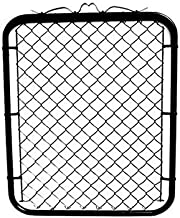 MTB Black Coated Chain Link Fence Gate 48-inch Overall Height by 32-inch Frame Width (Fit a 36-inch Opening), 1 Pack Walk ...