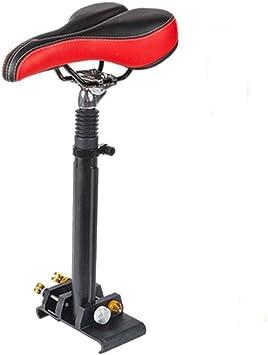 RDFlame Sillín universal para patinete eléctrico, varilla de aleación de aluminio, altura ajustable, grosor de instalación máximo 12 mm