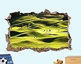 MXLYR Pegatinas de pared Fantástico campo de golf Etiqueta de la pared 3D Art Poster Mural Decoración