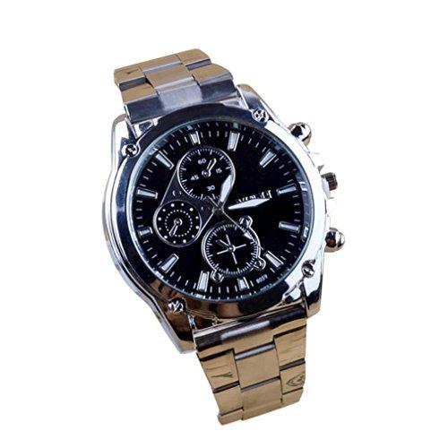 Unisex Edelstahl Armbanduhr Damen und Herren analog I Milanaise Armband Metallarmband I Uhr Ø 45mm I Herrenuhr - Damenuhr I Schlicht, elegant und sportlich LANSKIRT (Silber)