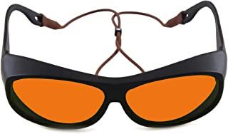 OD 6+ 190nm-550nm / 800nm-1100nm Wavelength Professional Laser Safety Glasses for 405nm, 450nm, 532nm, 808nm,980nm,1064nm,...
