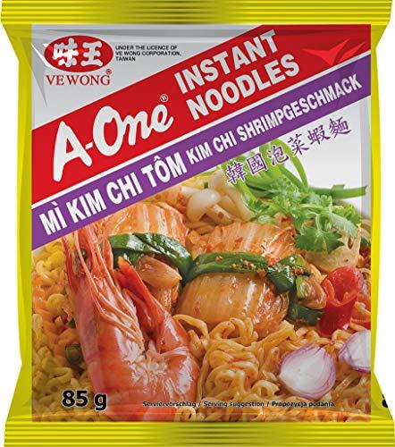 A-One Fideos Instantáneos, Sabor Gamba y Kimchi 80 g