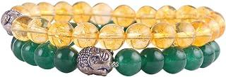 Aatm Natual Healing Gemstone Jade with Citrine Bracelet