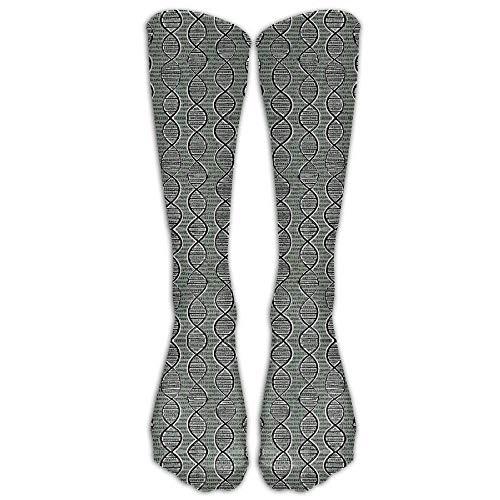 Rundafuwu Double Helix DNA Compression Sockens for Women & Men Compression Stockings 50CM