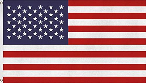 normani Fahne mit Messingösen 90 x 150, 150 x 250 oder 300 x 500 cm wählbar Farbe USA Größe 150 x 250