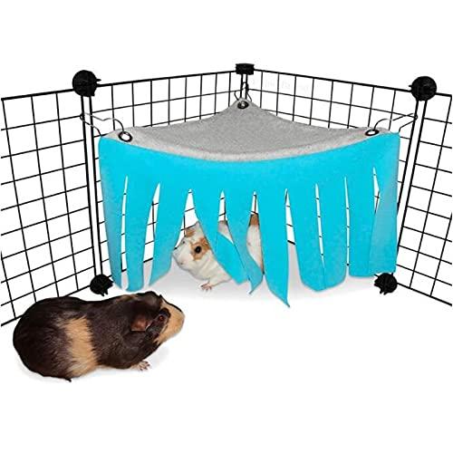 AIMICOCA Escondite de hámster de animales pequeños, escondite de animales pequeños para escondite de cobayas, chinchilla, conejo, rata, erizo, ardilla, hámster- accesorios y juguetes (azul)