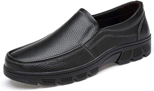 CHENDX Chaussures, Chaussures habillées de Ville pour Hommes (Couleur   Noir, Taille   41 EU)