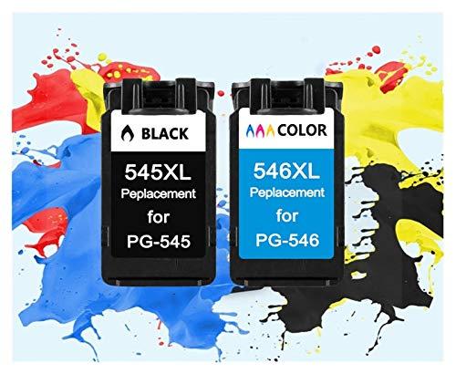 ZITENG CGBH Cartucho de Color Tri ColoInk PG545 CL546 Negro Tinta for Canon PG 545 CL 546 Pixma IP2850 MG2450 MG2550 MG2950 MX495 Impresora NS28 (Color : 2 Packs)