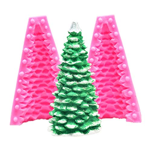 Yunnan 3D-Form für Kerzen und Tannenbaum, Silikon, Seife, Ton, DIY, Kuchen, Backen, hausgemachte Aromatherapie, Kerzen, Dekoration, Gipsform