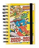 ERIK - Agenda escolar 2020/2021 día página S DC Comics, 11 meses (11,4x16 cm)