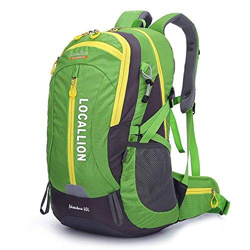 Alpinisme en plein air sac grande capacité sac à dos sac à dos hommes et femmes à pied imperméable à l'eau , green