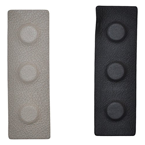 Black Magnetic Therapy Leather Split Clip-2 Part 2450 Gauss Magnets
