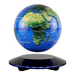 JOWHOL Magnes Globe, Magnetyczne Pływające Globe, Magnetyczne Kulki Globes 360 ° Obrotowy Earth Globe Globe Con World Card Office Dekoracja Dekoracja Prezenty urodzinowe