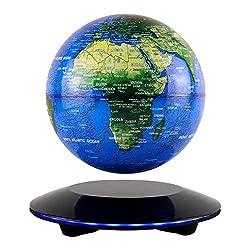 JOWHOL Schwebender Globus,Globus Beleuchtet,Magnetische Kugeln Globen 360°Rotierende Erde Globus Kugel Con World Karte Büro Dekoration Geburtstag Geschenke