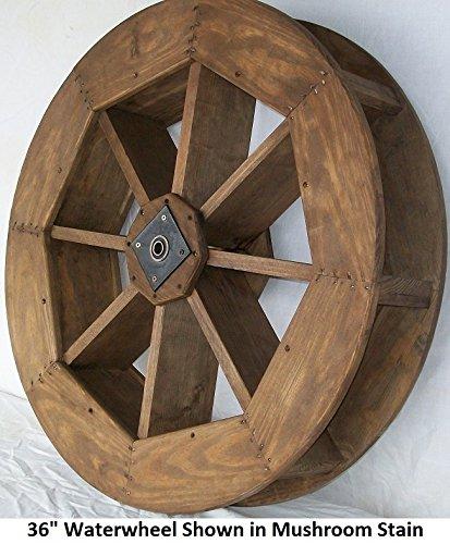 Backyard Crafts Amish-Made Decorative Waterwheel - 36' Diameter, Cedar Stain