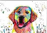 N / D ysyxin DIY Pintura por Números para Adultos Niños Principiantes Acuarela Labrador-Animal Set de Bricolaje para Pintar por Regalo para niños Usted Mismo pintura-16 x 20 Pulgadas (sin Marco)