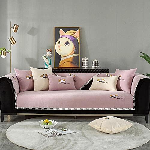 Funda Antideslizante Protector Universal para Muebles para cojines individuales, fundas de almohada decorativas modernas, fundas de cojines para exteriores lujo para sofá cama, rosa 1 28 * 28 inch