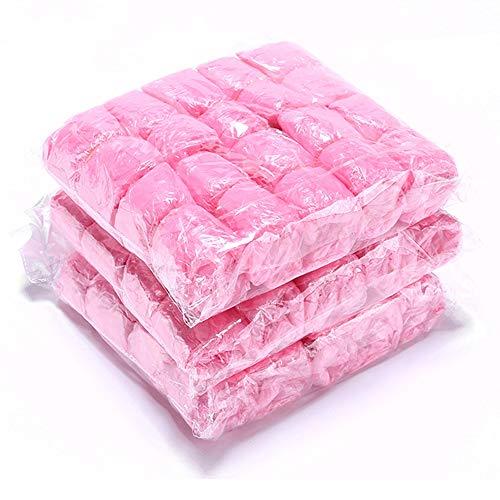 Guoda Schuhüberzieher-Schuhüberzieher Einweg Überschuhe | Überschuhe | Einwegüberschuhe | Wasserdichter Überschuh | Einheitsgröße | 300-tlg | rutschfeste Überschuhe | Einheitsgröße (Color : Pink)