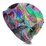 WLWINTER Gorro de punto con diseño de calavera de setas, para viajes, informal, cálido, para hombres y mujeres