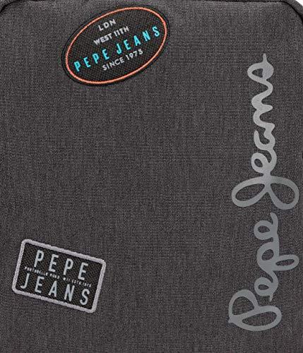 Pepe Jeans Teo Mochila Gris 30x42x15 cms Poliéster 18.9L