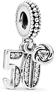 MiniJewelry Birthday Number 21st 30th 16th 18th 50th 60th Celebration Letter Charm for Bracelets Gift for Friends Wife Wom...