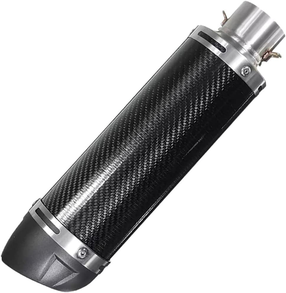 Pevolgen Universal Black 51Mm Motorcycle W Atlanta Mall Pipe Muffler Exhaust Cheap bargain