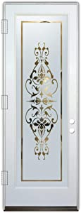 Glass Front Entry Door Sans Soucie Art Glass Bordeaux