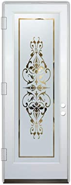 Glass Front Entry Door Sans Soucie Art Glass Bordeaux