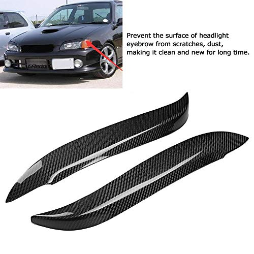 Keenso Headlight Eyebrow Cover, Headlight Eyebrow Cover Trim Sticker Car Exterior Decoration Fits for Toyota Starlet Glanza EP91 1996-1999