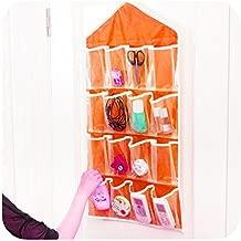 House of Quirk Hanging Wall Pocket Storage Bag Candy Underwear Socks Jewellery Wardrobe Organizer - Orange