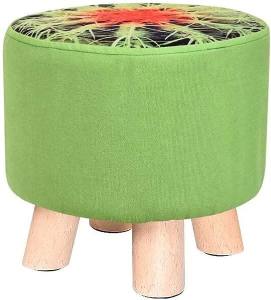 卡尔 Artbay 木质脚凳仙人掌凳子套装木质四脚凳矮凳创意儿童 4 脚凳家用