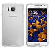 mumbi Hülle kompatibel mit Samsung Galaxy Alpha Handy Hülle Handyhülle, transparent Weiss