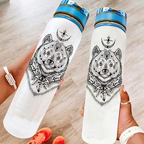 BBOOUAG Botella de agua deportiva de 32 onzas, apta para lavavajillas, botella de camping, botella de deporte, botella de ciclismo, mejor regalo para amado blanco, 1000 ml